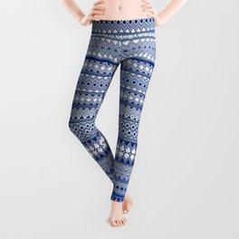 Tribality Blue Texture Leggings