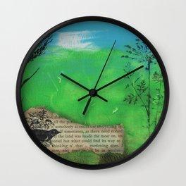 Landscape in Mixed Media Wall Clock