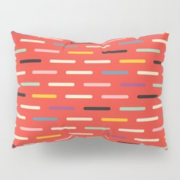 Modern Scandinavian Dash Red Pillow Sham