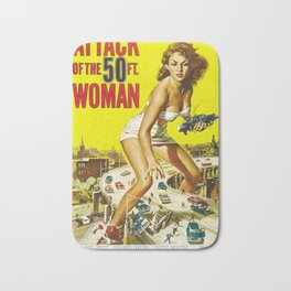 Attack Of The 50 Foot Woman, vintage horror movie poster Bath Mat