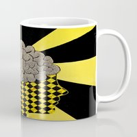 brain Mugs featuring Brain by Art By Carob