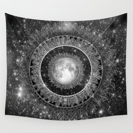 Major Tom (floating in my tin can, far above the Moon) Wall Tapestry
