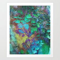 450 3 Abstract Hydrangea Art Print