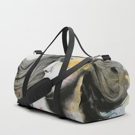 Monument (long hair girl with bird and skyline tattoo) Duffle Bag