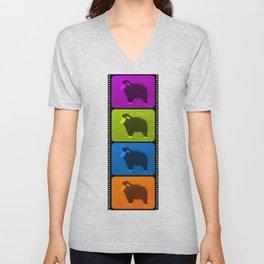 Mixed Sheeps Unisex V-Neck