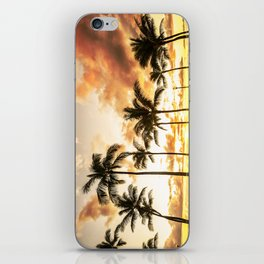 Typical Picturesque Waikiki Beach Sunset iPhone Skin