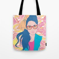sneakers Tote Bags featuring Sneakers by ispokonochi