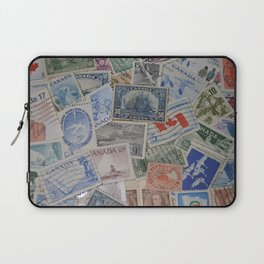 Canadian Pride Vintage Postage Stamp Collection From Canada Laptop Sleeve