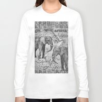 african Long Sleeve T-shirts featuring African Spirit by LebensART
