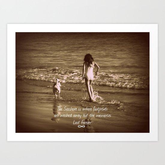 Seashore Memories Art Print