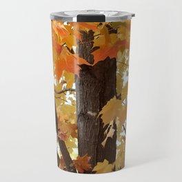 Orange Maple Tree Travel Mug