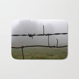 Fog and Fence Bath Mat