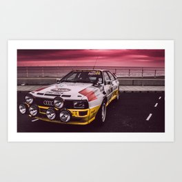 Rally is red Art Print
