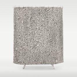 Moon Rock Concrete Block Shower Curtain