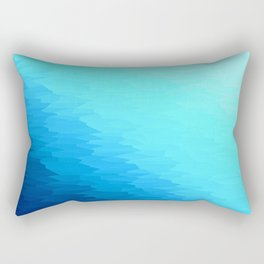 Turquoise Blue Texture Ombre Rectangular Pillow