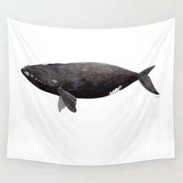 Northern right whale (Eubalaena glacialis) Wall Tapestry