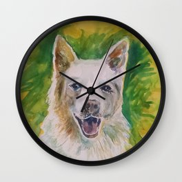 Green Dog Wall Clock