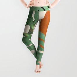 Tropical Leaves- Abstract Art  Leggings