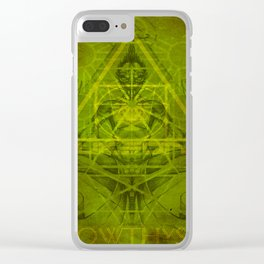 Monkey King (Stoned Ape) Clear iPhone Case