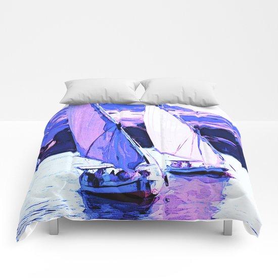 Sailboats at river Comforters