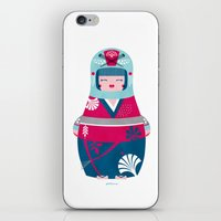 geisha iPhone & iPod Skins featuring Geisha by Piktorama
