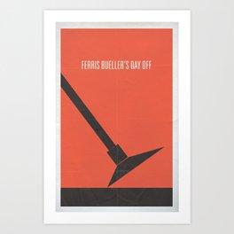 Ferris Bueller's Day Off minimalist poster Art Print