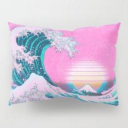 Vaporwave Aesthetic Great Wave Off Kanagawa Pillow Sham
