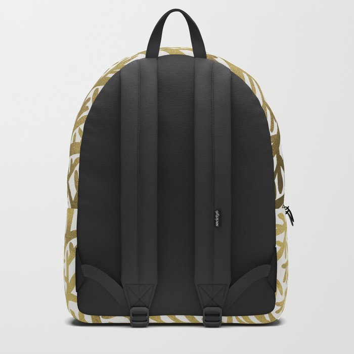 Gold Fan Coral Backpack