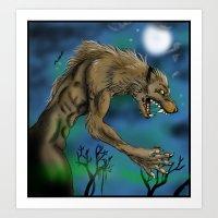 werewolf Art Prints featuring Werewolf  by Furiarossa