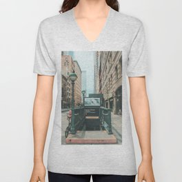 New York City Subway 2 Unisex V-Neck