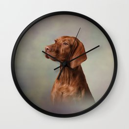 Drawing funny Vizsla Pointer 4 Wall Clock