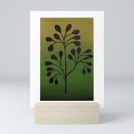 Green and ochre Mini Art Print