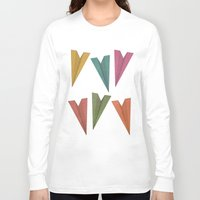 planes Long Sleeve T-shirts featuring Paper Planes by coalotte