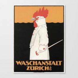 Vintage poster - Waschanstalt Zurich Canvas Print