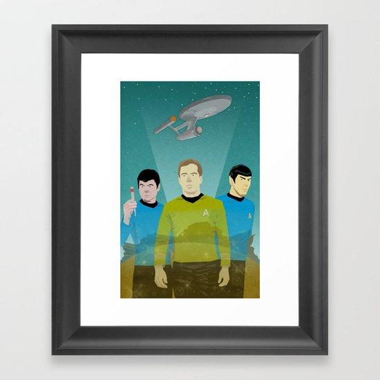The Enterprise Trio  Framed Art Print