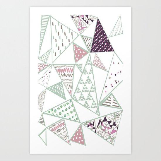 Triangle print 2 Art Print