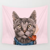sailor Wall Tapestries featuring Sailor Cat IX by dogooder