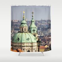 prague Shower Curtains featuring Prague by Veronika