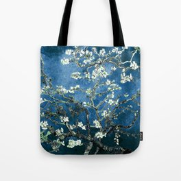 Van Gogh Almond Blossoms : Ocean Blue Tote Bag