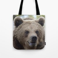 swedish Tote Bags featuring Swedish bear by ilsephilips
