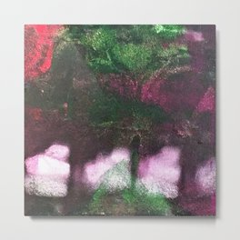What's In The Forest? Forest, Abstract, Painting, Jodilynpaintings. Red, Green. Metal Print