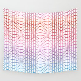Straight and curved lines - Optical Game 19 Wall Tapestry