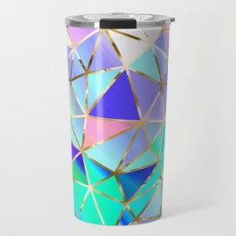 Rainbow Geometric pattern #6 Travel Mug