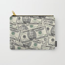 Collage of Currency Graphic Carry-All Pouch