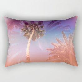 Palm Trees Kissing the Sky Rectangular Pillow