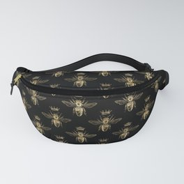Black & Gold Queen Bee Pattern Fanny Pack