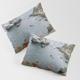 Big Sur Coast Wall Art | California Highway 1 Nature Flowers Ocean Beach Coastal Travel Photography Print Pillow Sham