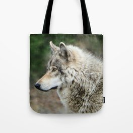 Portrait of a Grey Wolf Tote Bag