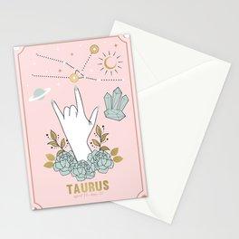 Taurus Zodiac Series Stationery Cards