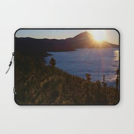 Sunset Canary Islands forest and Volcano Teide in Tenerife Laptop Sleeve